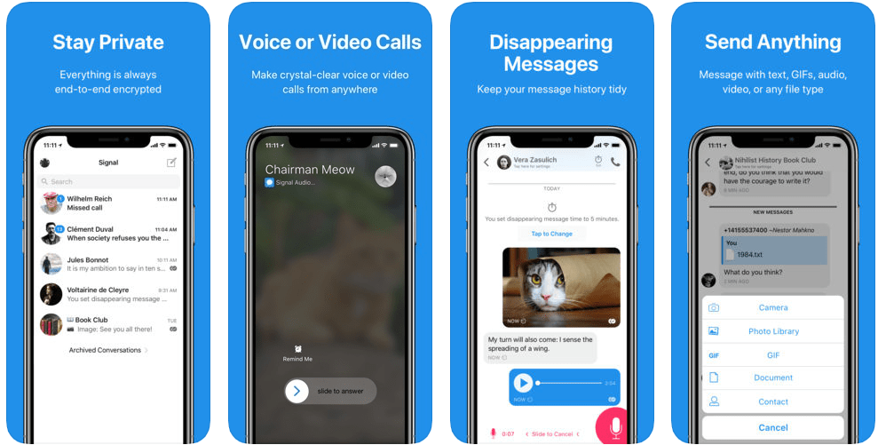 best private messaging app Signal