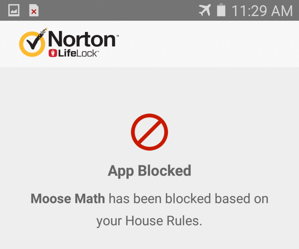 Norton Family App Blocked Android