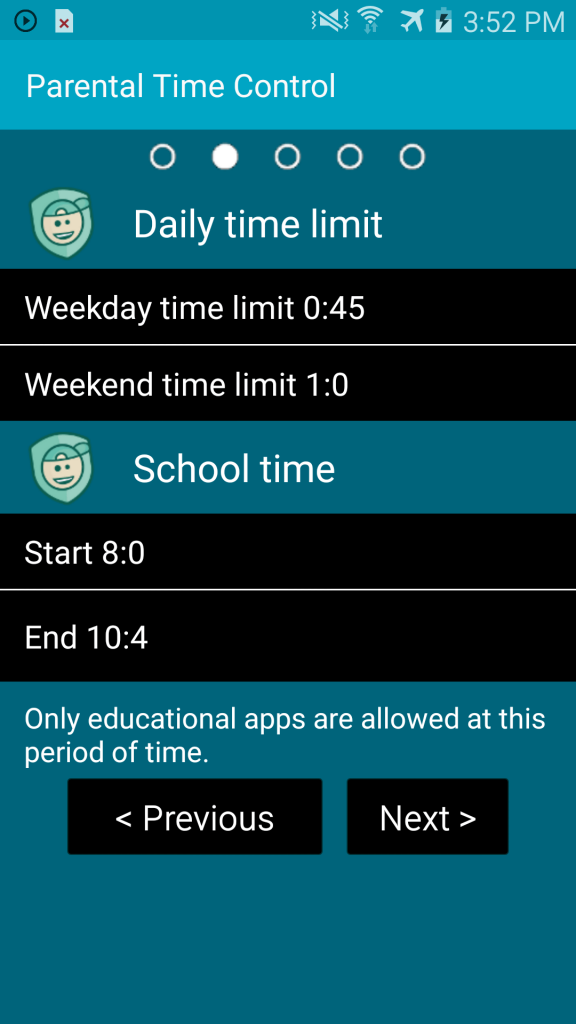 KidLogger Parental Time Control Android Daily time limit