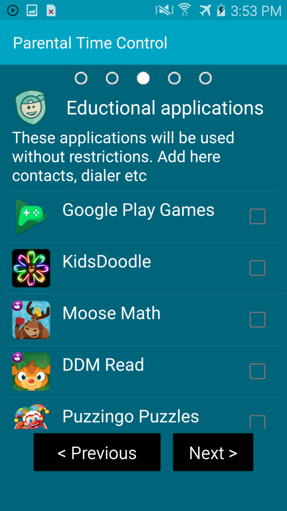 KidLogger Parental Time Control Android allowed apps