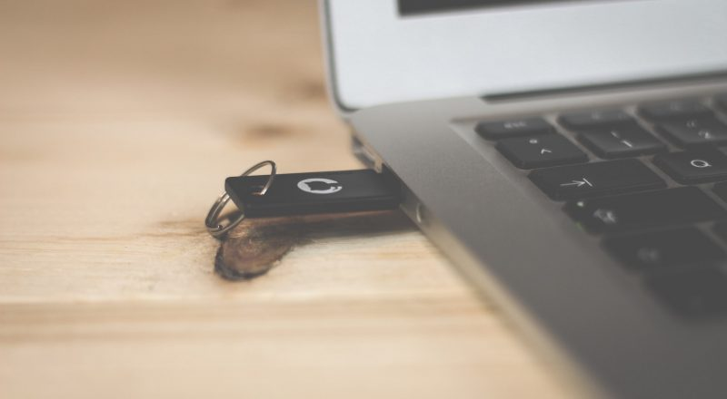 USB drive in laptop