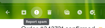 Gmail report spam