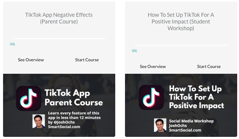 TikTok courses for parents and students Smart Social
